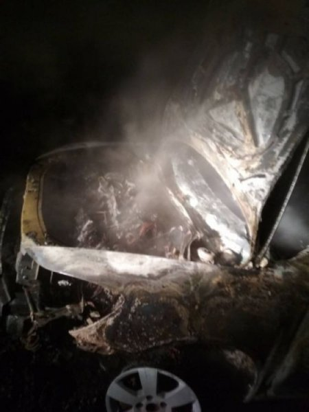 В Хрущево Тульской области сгорела иномарка Skoda Octavia