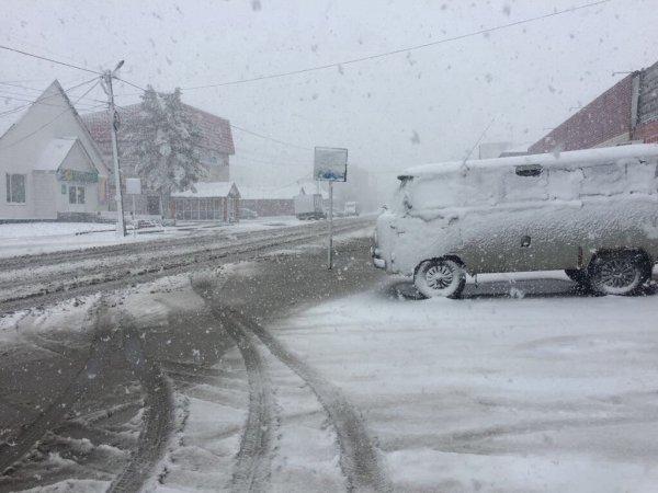 Зима близко: В Кемеровской области уже выпал снег