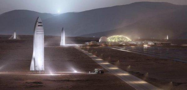 Илон Маск показал на снимках будущую марсианскую базу
