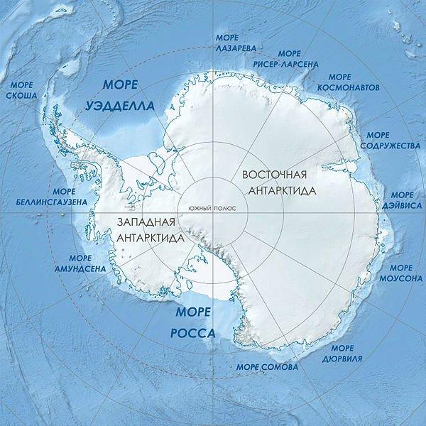 Составлена карта подледных частей Антарктиды