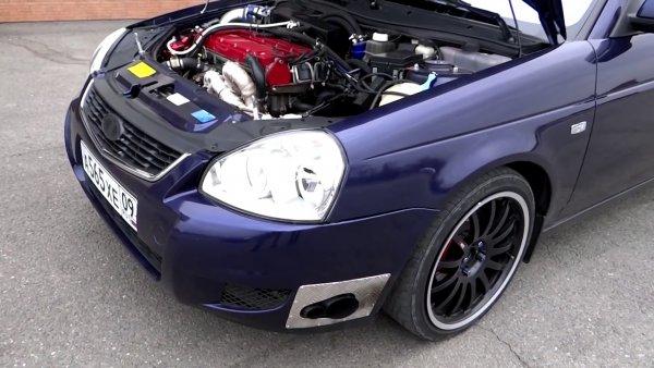 «Уделала BMW и Mercedes»: «Зверская» LADA Priora с турбомотором «унизила немцев»