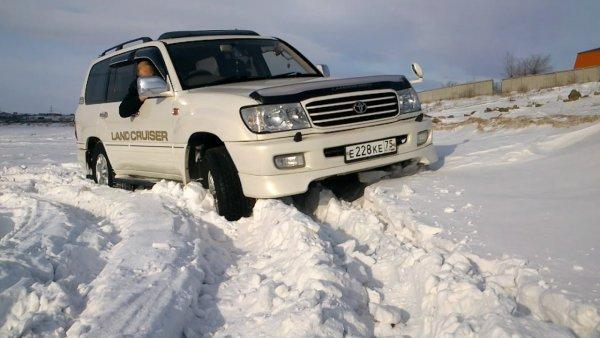 «Битва легенд»: Toyota Land Cruiser 100 и LADA 4x4 сразились на заснеженном бездорожье