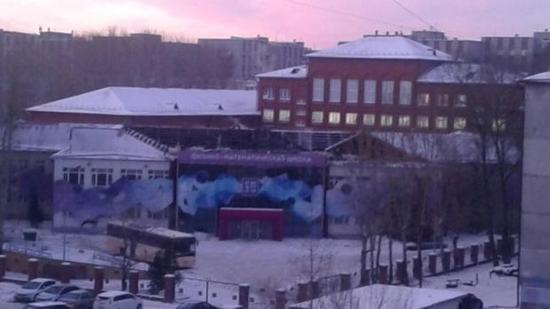 Тюменцы не увидели крышу школы и решили, что она сгорела