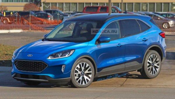 Первые изображения нового Ford Kuga 2020 показали в сети