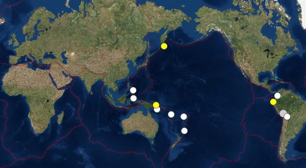 Вестник апокалипсиса: Нибиру вызвала 13 землетрясений в тихоокеанском огненном кольце