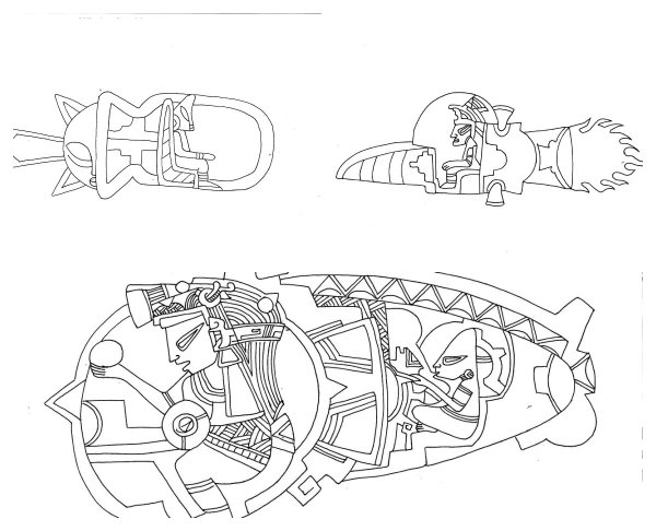 Артефакты древних ацтекских племен Мексики показали внешний вид пришельцев-амфибий