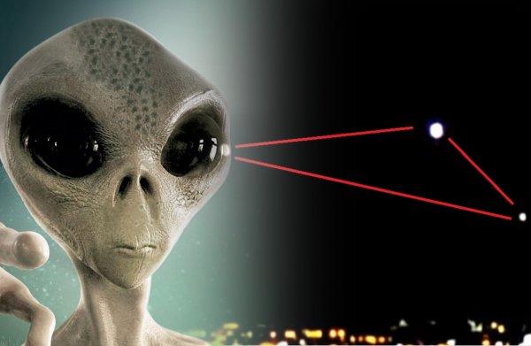 Инопланетный «треугольник»: 3 светящихся НЛО создали портал для нашествия пришельцев