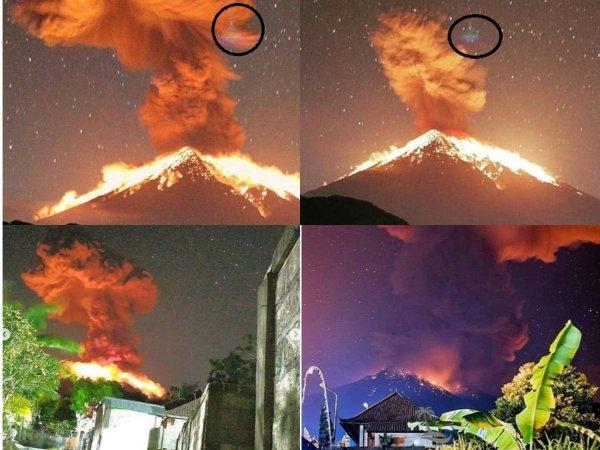 Индонезия «захлебнется» лавой  – Очевидцы заметили НЛО во время извержения Агунга
