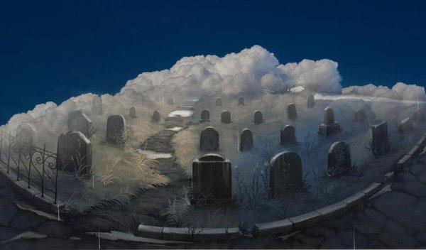 Небесное кладбище. В небе сфотографировали облака в форме гроба