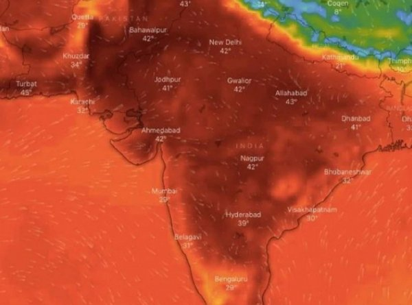 200 млн сварятся заживо: Индию накрыли +50°C и температура продолжает расти