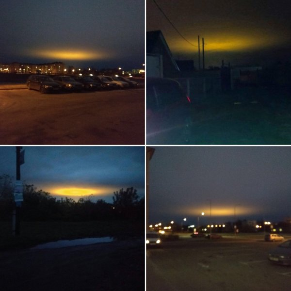 Это Нибиру! Жители Саратова заметили в небе «купол смерти»