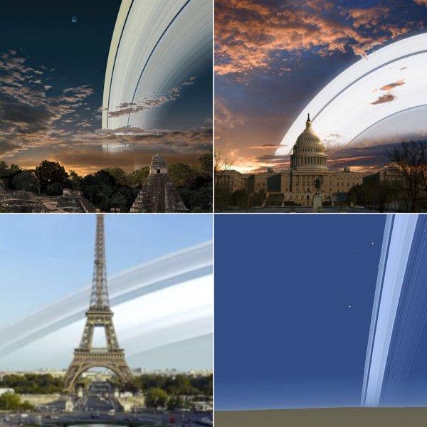 У Земли появятся кольца. На голубую планету летит метеоритный столб