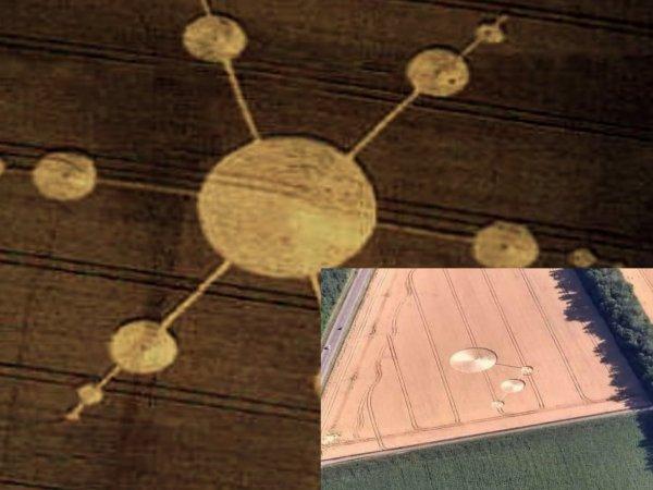Космический Малевич: На камеру попали дроны пришельцев, рисующие круги на полях