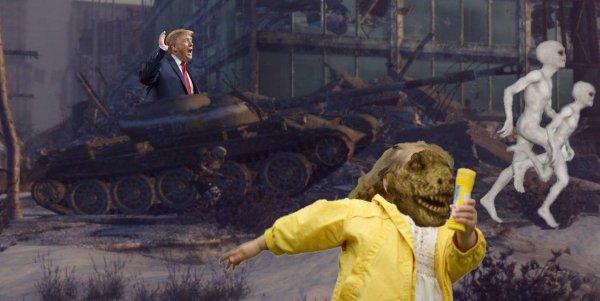 Ржавые танки без пушек и пулеметов: Трамп устроил «облезлый» парад из-за угрозы Нибиру