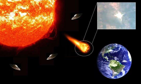 Пришельцы готовят солнечную бомбу: Осколки взрыва на Солнце летят к Земле