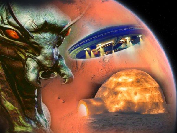 Марсианские иглу: Найден тайный мегаполис пришельцев, скрытый NASA