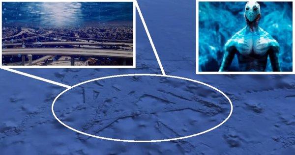 «Инопланетные таранки»: Google Maps показал подводный город пришельцев