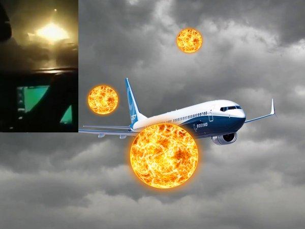 НЛО напал на Boeing: Лётчиков спасла аварийная посадка