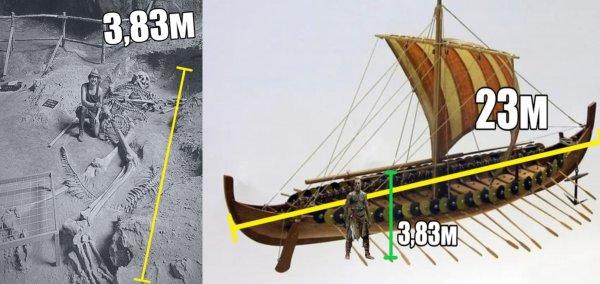 «Скелет обвит змеёй»: Корабль короля викингов скрывал останки 4-метрового гиперборейца