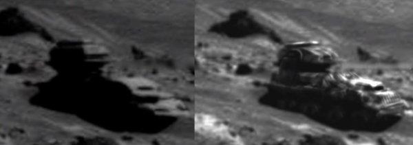 Марсиане готовятся к войне? На красной планете обнаружена техника пришельцев