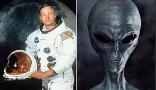 Армстронг - пришелец? Запись полёта на Луну оказалась подделкой