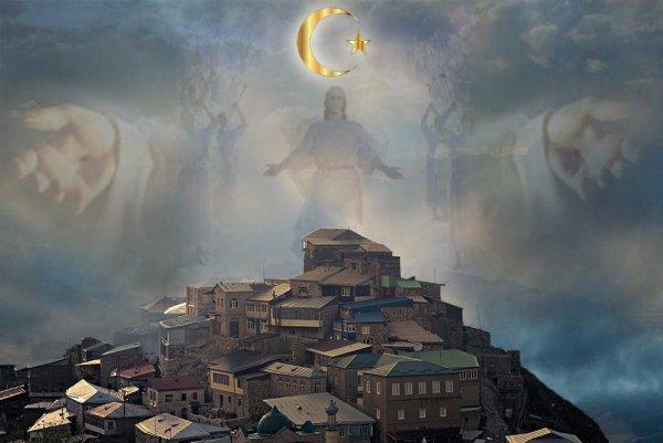 Лик Аллаха над Дагестаном: пророчества Муххамеда сбываются в России