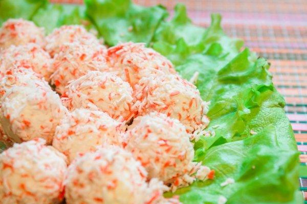 Закуска «Крабовые шарики» для застолья