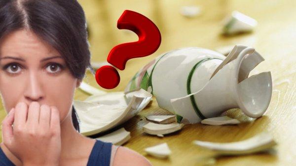 Разбил – выброси! Чем чревато хранить и склеивать посуду